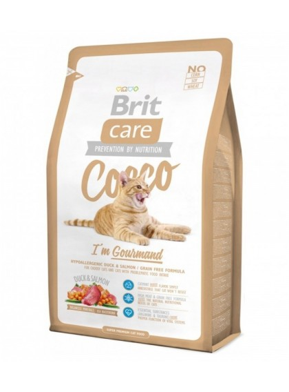 Brit Care Cat – Cocco I'm Gourmand Grain Free| Anatra e Salmone