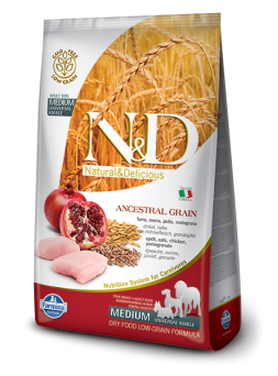 N&D LOW GRAIN ADULT MEDIUM - Pollo e Melograno