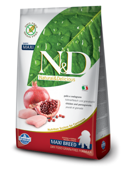 FARMINA N&D GRAIN FREE PUPPY MAXI - Pollo E Melograno
