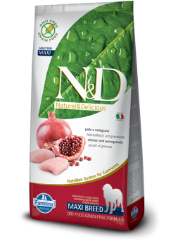 FARMINA N&D GRAIN FREE ADULT MAXI - Pollo E Melograno