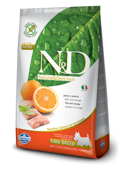 FARMINA N&D GRAIN FREE ADULT MINI - Pesce e Arancia