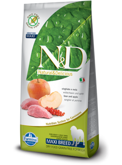 FARMINA N&D GRAIN FREE ADULT MAXI - Cinghiale e Mela