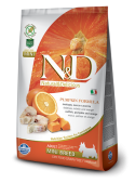FARMINA N&D DOG GRAIN FREE PUMPKIN ADULT MINI - Merluzzo, Zucca e Arancia