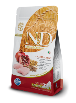 FARMINA N&D LOW GRAIN PUPPY STARTER - Farro, Avena, Pollo e Melograno