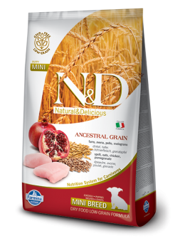 FARMINA N&D LOW GRAIN PUPPY MINI - Farro, Avena, Pollo e Melograno