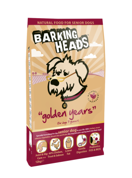 Barking Heads Golden Years Dog Food - Senior 2kg