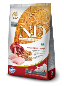 FARMINA N&D LOW GRAIN PUPPY MEDIUM - Farro, Avena, Pollo e Melograno