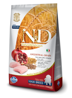 FARMINA N&D LOW GRAIN PUPPY MAXI - Farro, Avena, Pollo e Melograno