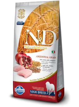 FARMINA N&D LOW GRAIN ADULT MAXI - Farro, Avena, Pollo e Melograno