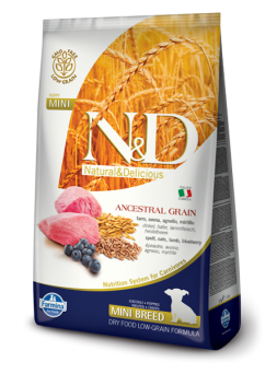 FARMINA N&D LOW GRAIN PUPPY MINI - Farro, Avena, Agnello, Mirtillo