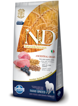 FARMINA N&D LOW GRAIN ADULT MAXI - Farro, Avena, Agnello, Mirtillo
