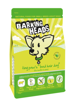 BARKING HEADS Tiny Paws Bad Hair Day ADULT SMALL Dog Food - Agnello