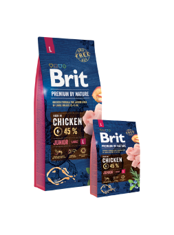 BRIT PREMIUM BY NATURE CANI JUNIOR L - Pollo
