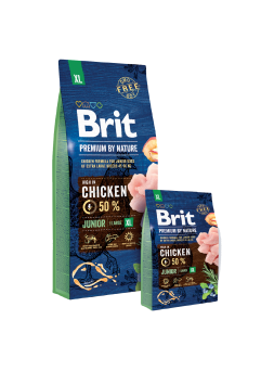 BRIT PREMIUM BY NATURE CANI JUNIOR XL - Pollo
