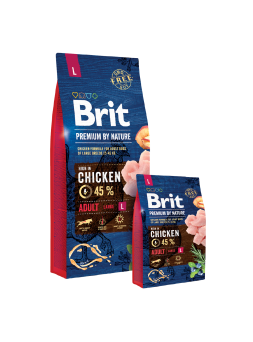 BRIT PREMIUM BY NATURE CANI ADULT L - Pollo