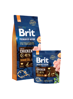 BRIT PREMIUM BY NATURE CANI SENIOR S+M - Pollo
