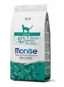 Monge Natural Superpremium Hairball gatto - con Pollo